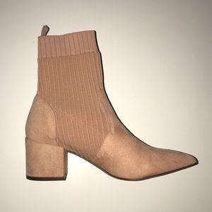 Blush Pink Sock Booties